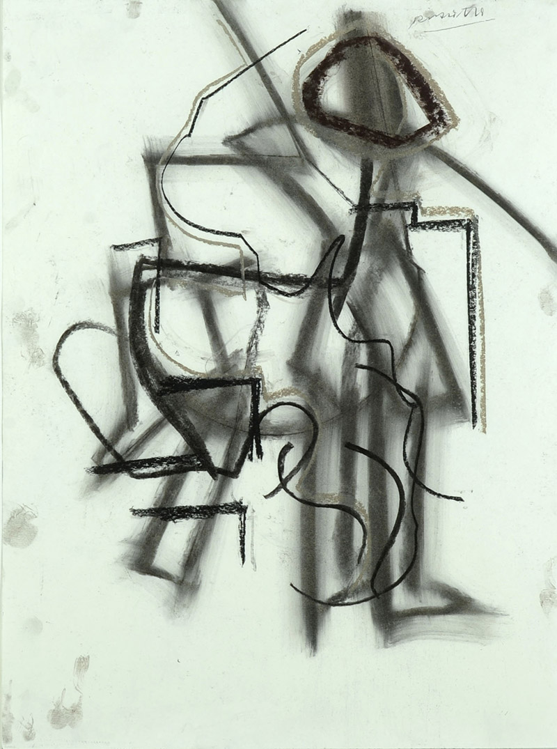 Paul Russotto, American  Student, c. 1985  Charcoal on paper, 28 x 20 inches  Gift of the Artist