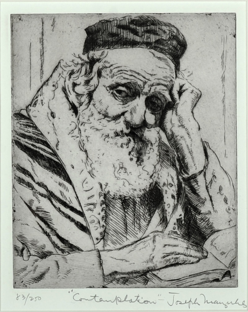 Josph Marguiles, Contemplation, Etching