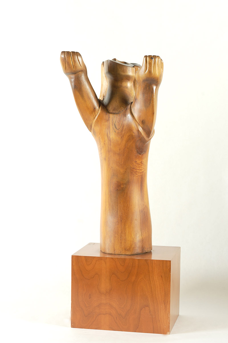William Lidh, American (1925-1999)  Gratitude, 1962  Wood, 37 x 12 x 10 inches  Gift of Dr. Perry Kelly, Professor Emeritus