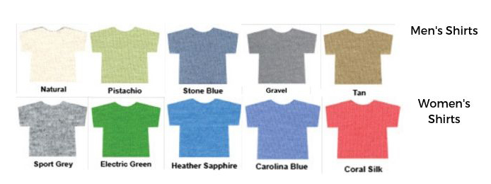Tshirt colors for native plant conference