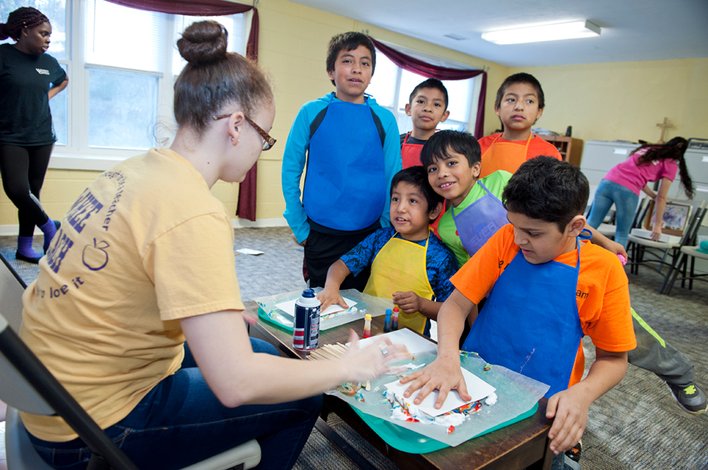 Students in an after school program