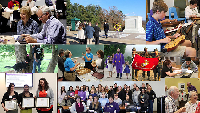 Collage of Ed Outreach activities