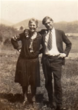 John C. Campbell Folk School founder Olive Campbell with Georg Bidstrup