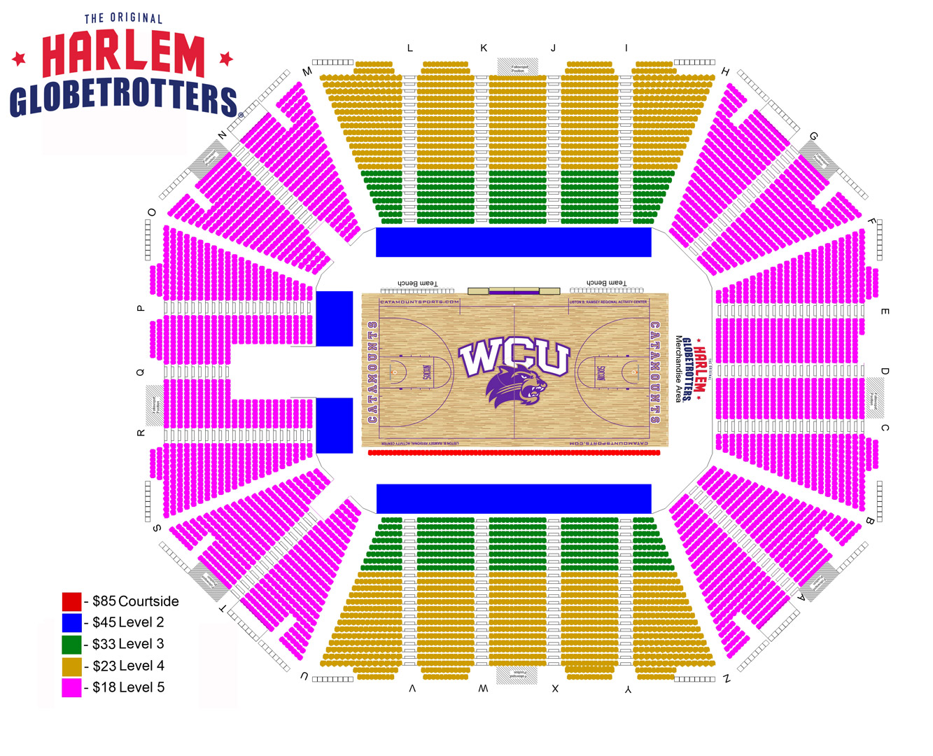 Globetrotters Seating Chart