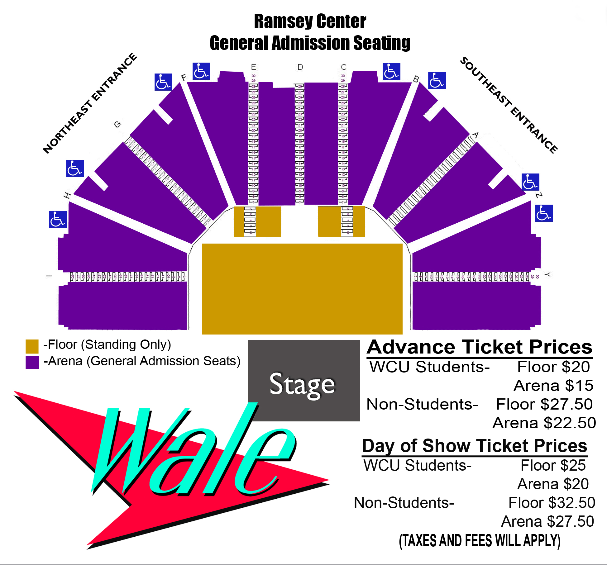 Wale Seating Chart