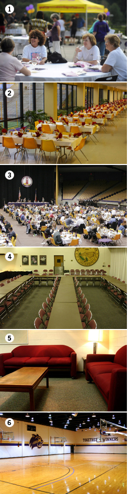 Banquet and meeting spaces collage
